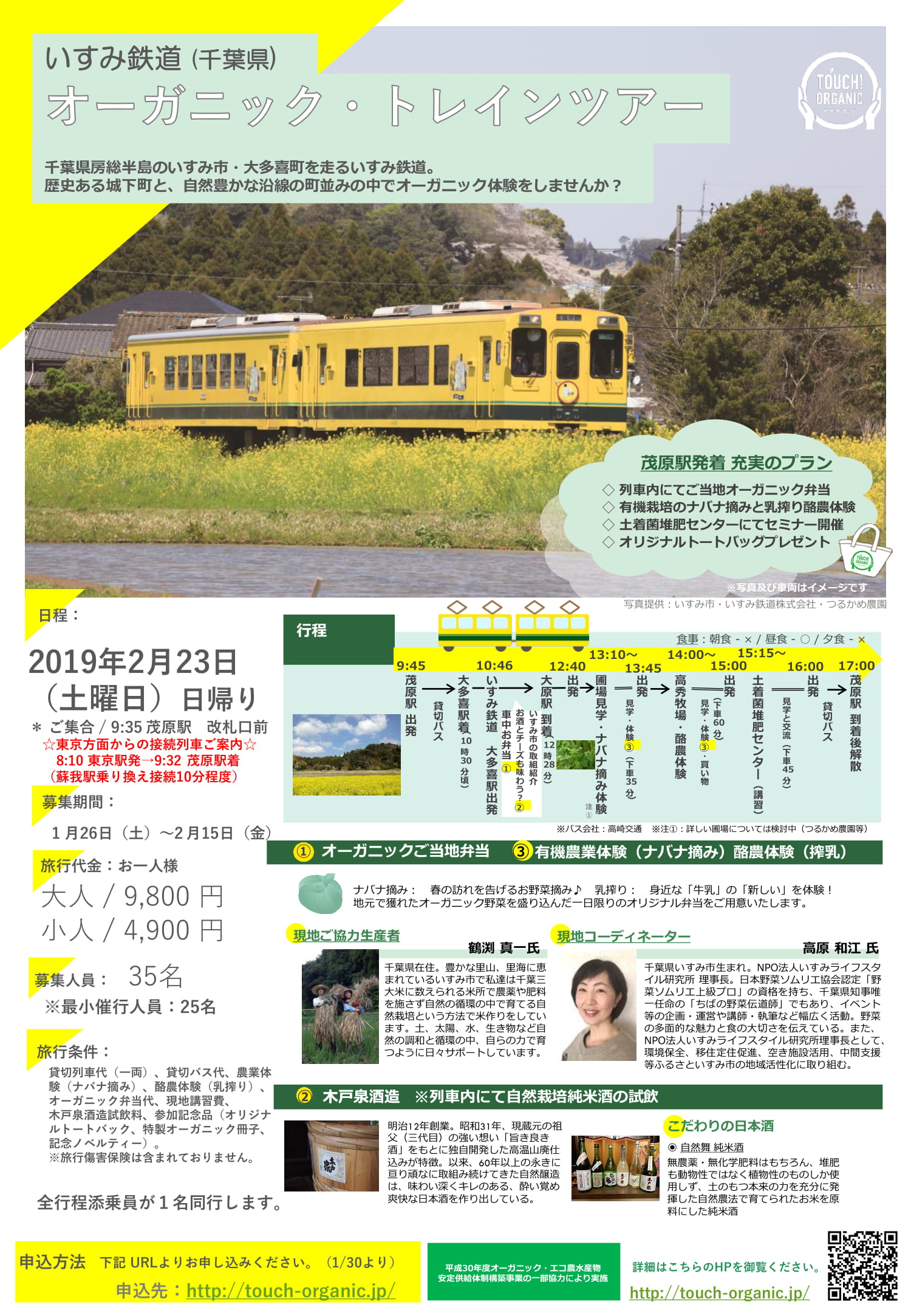 いすみ鉄道オーガニックトレインツアー